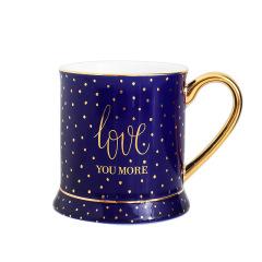 创意波点描金把手金边简约北欧风陶瓷杯       实用礼品