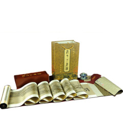 《清明上河图中长卷》 丝绸织锦画 真丝织锦 丝绸文化礼品