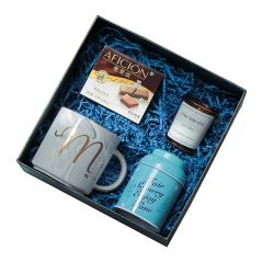 格調生活歌斐頌伴手禮 馬克杯+巧克力+蠟燭 禮盒套裝 端午節送什么禮品好