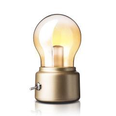 创意工业风格灯泡灯 迷你怀旧小夜灯 床头灯 30元左右的小礼品