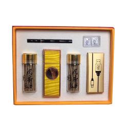 商务礼品 红木充电打火机套装 精致礼品 送商务男士什么礼物好