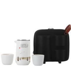 【泡茶宝·三潭映月】湖畔居 便携旅行茶具套装 一壶两杯随身快客杯礼盒 中国特色礼品 杭州特色文化礼品