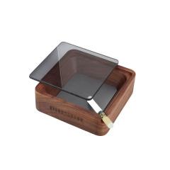 MUSOR 帶蓋實木煙灰缸家居木制品擺件煙缸 100元實用禮品
