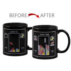 morning mug俄罗斯方块趣味变色杯 350ml陶瓷礼品杯 展会送给展商礼品