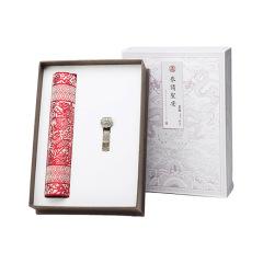 【中国剪纸】文化礼品套装 真丝鼠标垫+合金如意U盘16G两件套 中国特色商务礼品