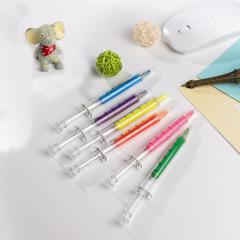 创意造型注射器针筒笔荧光笔 医药展会礼品