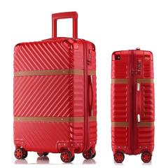 20寸經典拉鏈皮帶款登機箱 防刮拉桿箱 經典年會禮品