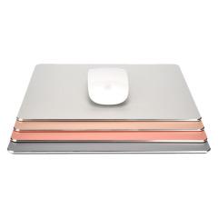 高端铝合金方形鼠标垫 一面金属一面皮革 轻薄简约大气 会议礼品策划