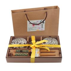异形碟筷6件套 陶瓷餐具套装