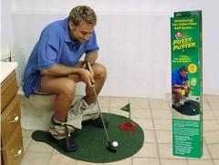 抖音爆款 厕所高尔夫球场防滑地垫练习套装 年会恶搞礼品定制