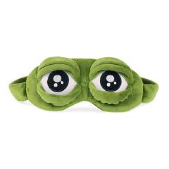 趣味悲伤的青蛙眼罩 可以闭眼也可以睁眼还可以翻白眼 活动礼品赠送方案