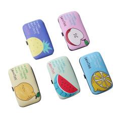 【水果系列】美容护甲7件套指甲钳套装 环保PU皮美观实用 不锈钢小礼品