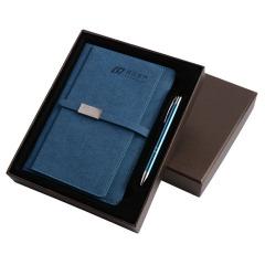 桃绒变色皮料笔记本礼盒 仿皮PU手账本 创意商务礼品