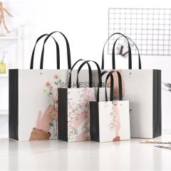 【手捧花】小清新文艺纸质手提袋生日伴手礼品袋