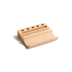 创意榉木实木手机支架 木质桌面多功能笔筒名片座手机底座置物架 小礼品方案 外贸公司宣传礼品