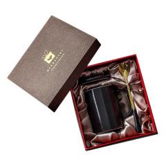 简约时尚陶瓷杯单个装礼盒包装 大型活动礼品选择