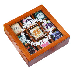 精致木盒礼物 养颜花草茶组合9罐装 马口铁罐花茶套装