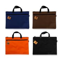 得力(deli)A4商務簡約手提資料袋 拉鏈文件袋 適合送給公司的禮物