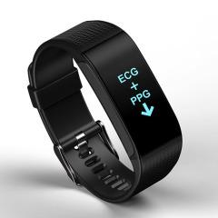 DIDO PPG+ECG心电监测血压手环 血压测量心率睡眠监测智能彩屏手环 健康运动礼品 高档礼品