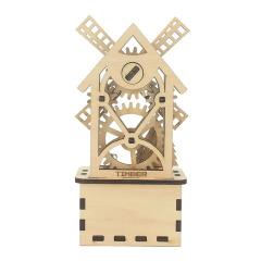 下架木质工业风八音盒音乐盒 手工制作八音盒摆件 礼赠品定制服务公司