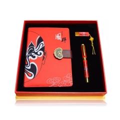 中国好礼物系列 中国风丝绸笔记本三件套礼盒 创意年会礼品