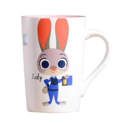 迪士尼disney 疯狂动物城小兔judy陶瓷杯 早餐杯 马克杯 春节娱乐活动