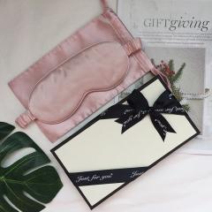 真丝眼罩礼盒 桑蚕丝纯色护眼眼罩 丝绸睡眠眼罩 透气遮光眼罩 质感礼品