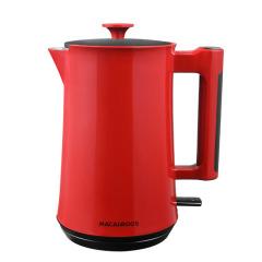 【MACAIIROOS】双层防烫电水壶实时控温家用热水壶 中国红  年会家电礼品