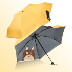 动漫萌猫伞五折超轻灰胶印花底防晒伞 客户送什么礼品