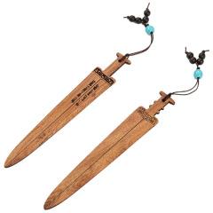 剑式弧面红木书签 特色设计 中国风文创礼品
