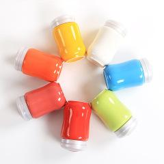 纯色陶瓷保温杯  便携随手杯子带盖  员工礼品