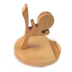 【中国功夫】创意手机木制底座 手机支架 展会纪念品 会议小礼品
