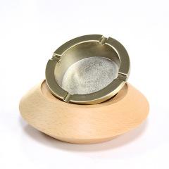 创意木质烟灰缸 个性实用 活动礼品