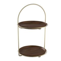 MUSOR 欧式双层实木果盘中式客厅糖果盘 送客户礼品推荐