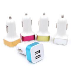 方形車載雙USB充電器 會議營銷禮品 活動小獎品買什么好