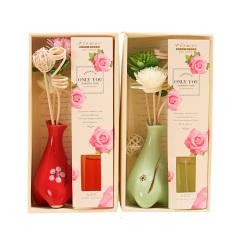 【玫瑰】天然香薰精油套装 精油 藤条 干花 去味套装