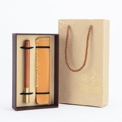 【随风】黄铜签字笔红木套装 创意小礼品 教育机构送小礼品