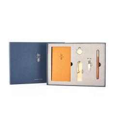 【知书】中国特色礼品古风办公礼物 签字笔定制纯铜U盘(5件套) 文化创意礼品