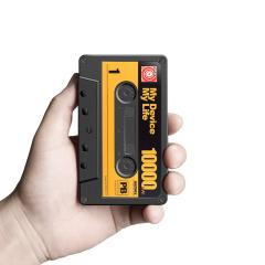 REMAX 10000毫安聚合物创意移动电源 双输出手机充电宝 磁带 旅游商务礼品