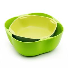Artiart(台湾) 创意组合塑料水果盘零食干果盘欧式客厅组合果盘