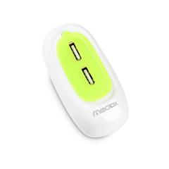 能装进口袋的充电器 小豆子双USB插头 便携充电头