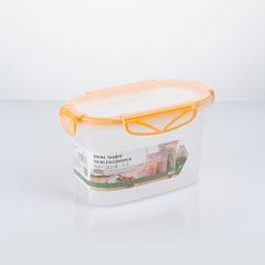 纳川椭圆形透明密封保鲜盒 收纳盒--中号1150ML阳光橙(AO247-GB)
