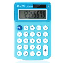 得力(deli)迷你糖果色太陽能雙能源計算器 時尚便攜計算器 小競賽的獎品