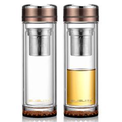 一帆风顺玻璃杯高档泡茶杯便携商务水杯  送给男士的小礼品
