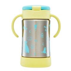 利其尔(Richell)儿童防漏不锈钢真空保温吸管杯创意儿童礼品