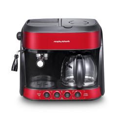 摩飞(Morphyrichards)半自动美式意式三合一全面咖啡机  创意小家电
