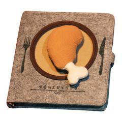 【高熱吮指餐】趣味美食筆記本 創意吃貨手賬本日記本筆記本 雞腿漢堡薯條活頁本 有趣的禮品