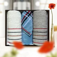 洁丽雅(Grace)简欧-4 纯棉毛巾礼盒套装 简约时尚3条装 单位小礼品