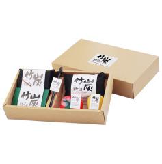 竹炭物语六件套(水果炭包+方形炭包+竹炭海绵+调酒棒+炭片)