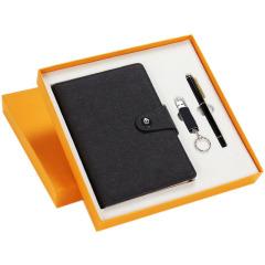 商务礼品三件套   笔记本+签字笔+U盘   教师节礼品